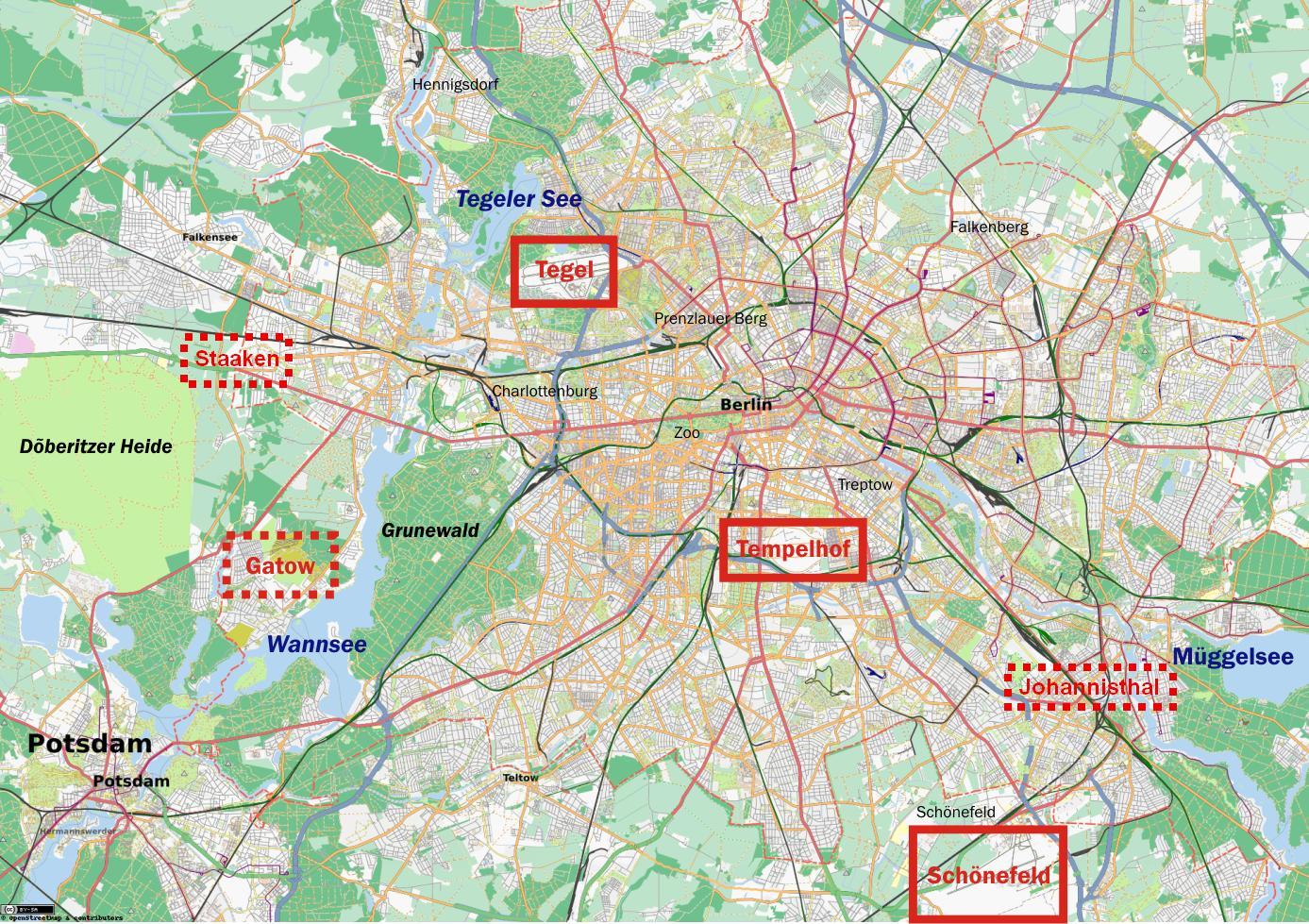 Harta Berlin Arată Aeroporturi Harta Aeroporturi Din Berlin