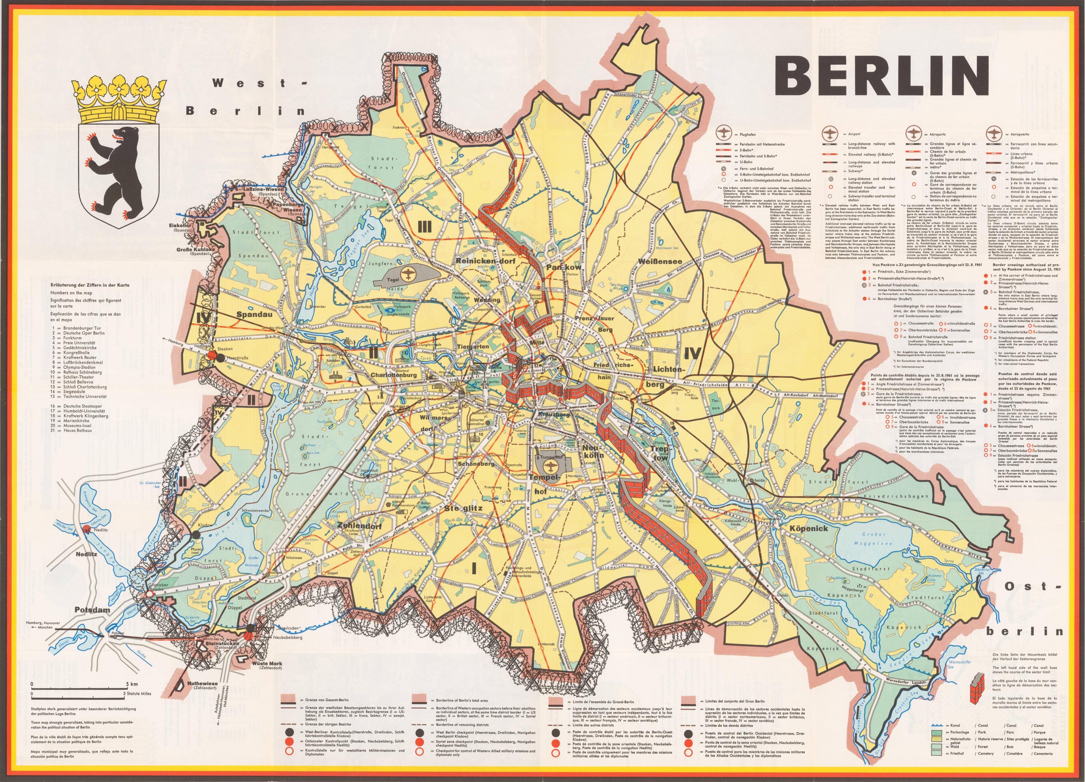 Zidul Berlinului Harta Hartă De La Berlin Traseu De Perete