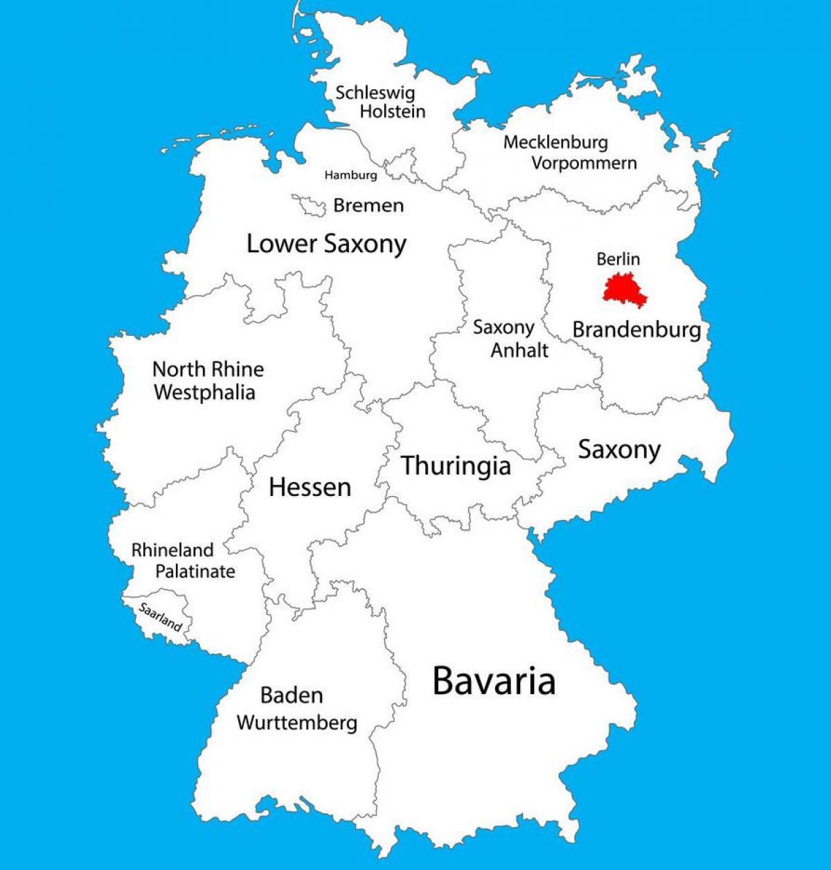 Berlin Germania Hartă Harta Germania Arată Berlin Germania