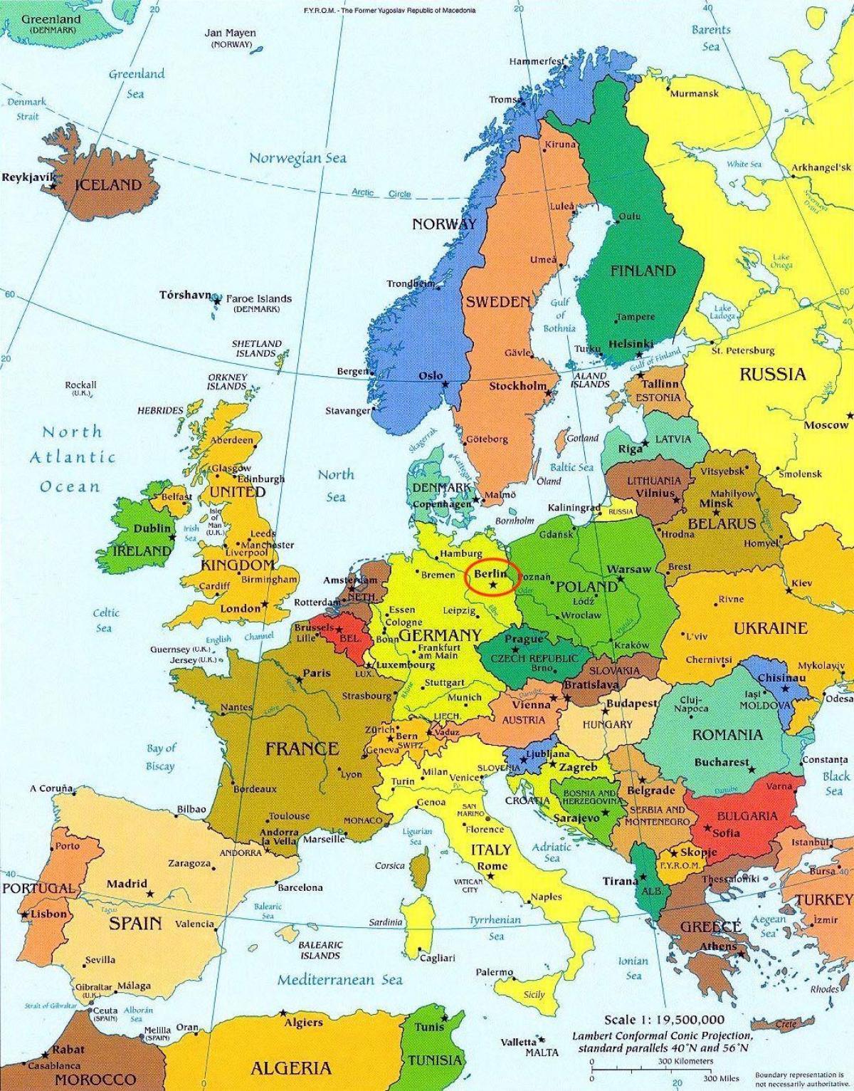 Berlin Harta Europei Harta Berlin Hartă A Europei Germania