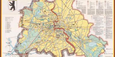 Berlin Hartă Hărți Berlin Germania